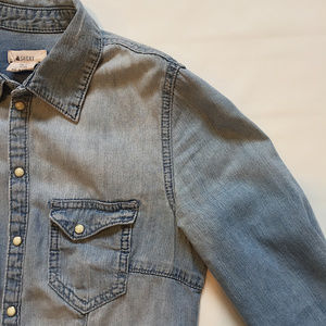 H&M Light Denim button down shirt